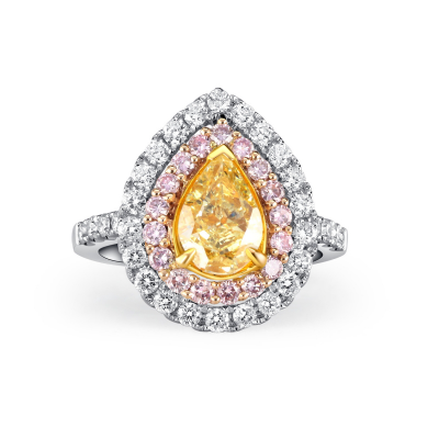 RING WITH FANCY YELLOW DIAMOND